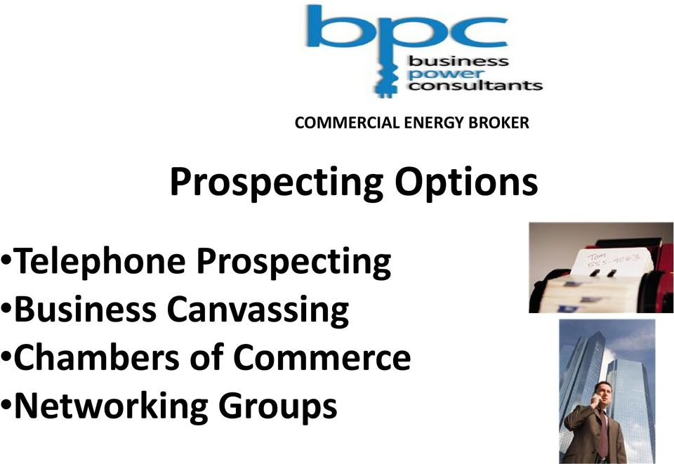 Business Canvassing