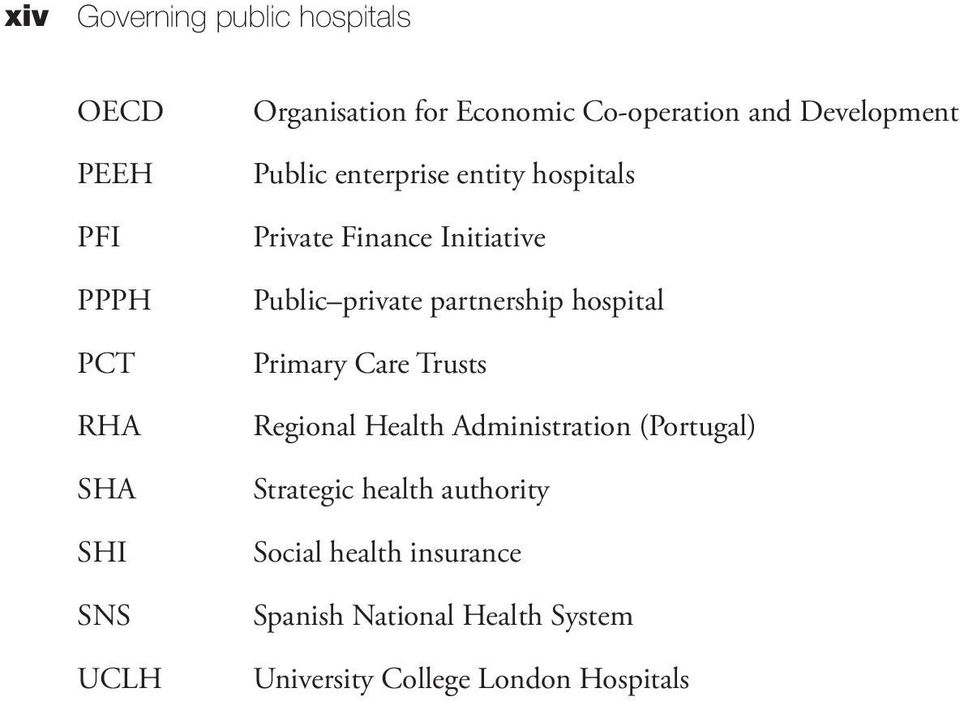 private partnership hospital Primary Care Trusts Regional Health Administration (Portugal) Strategic