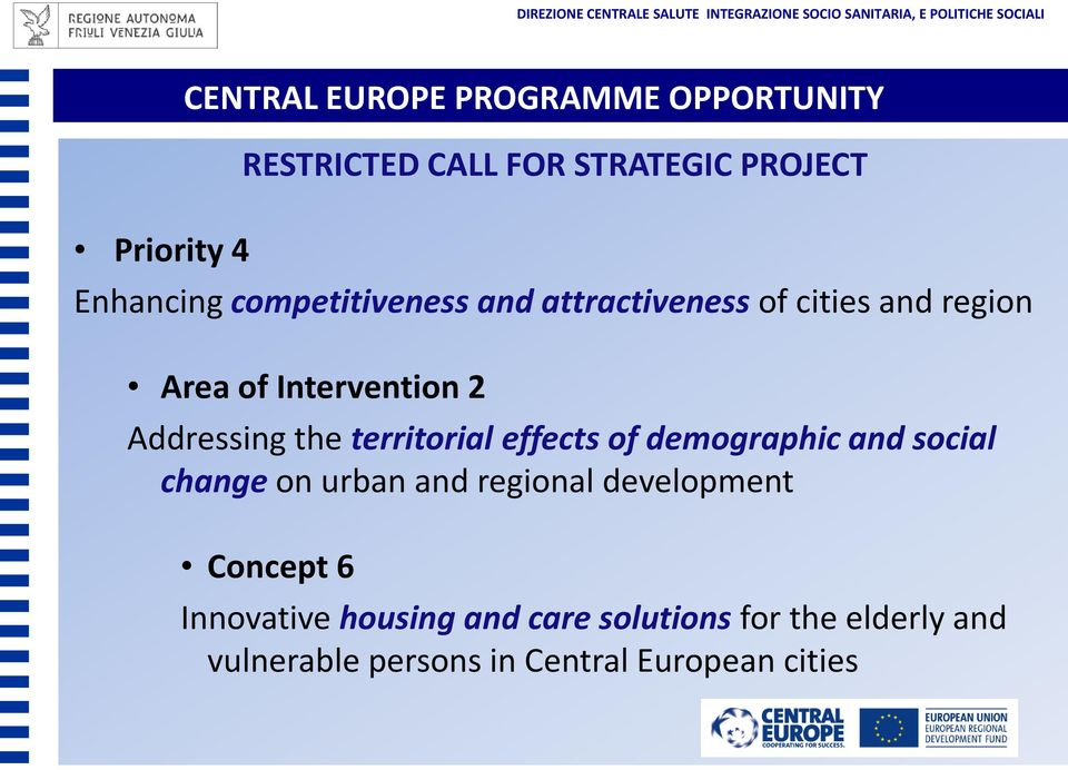 territorial effects of demographic and social change on urban and regional development Concept 6