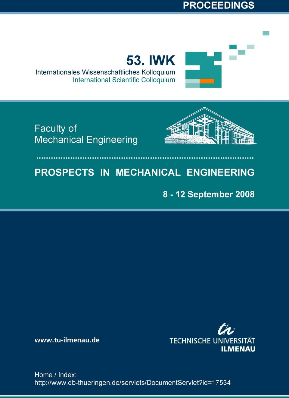 Scientific Colloquium Faculty of Mechanical Engineering.