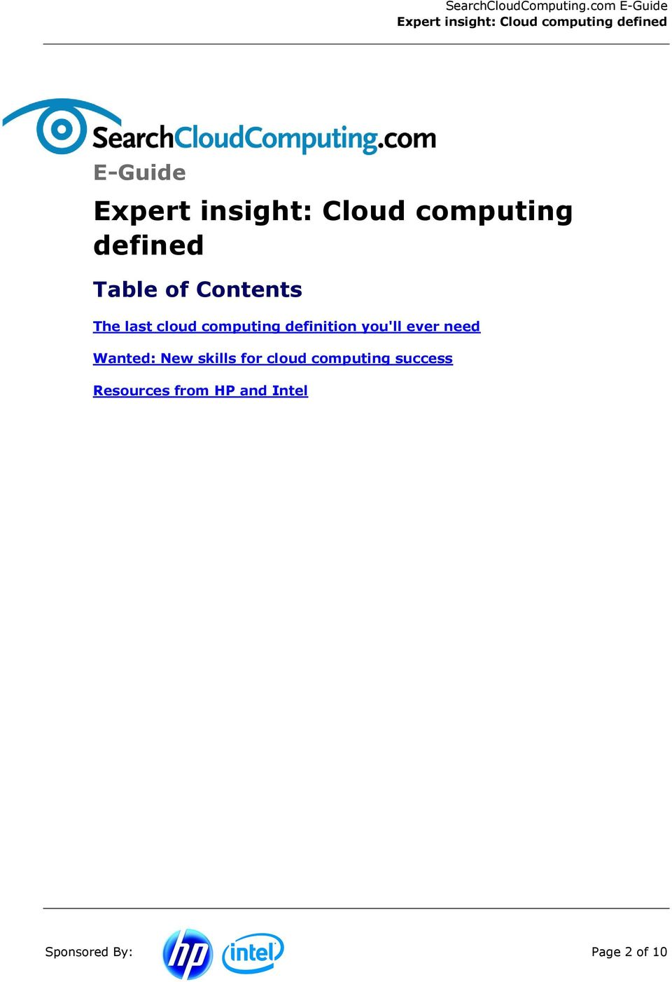 ever need Wanted: New skills for cloud computing