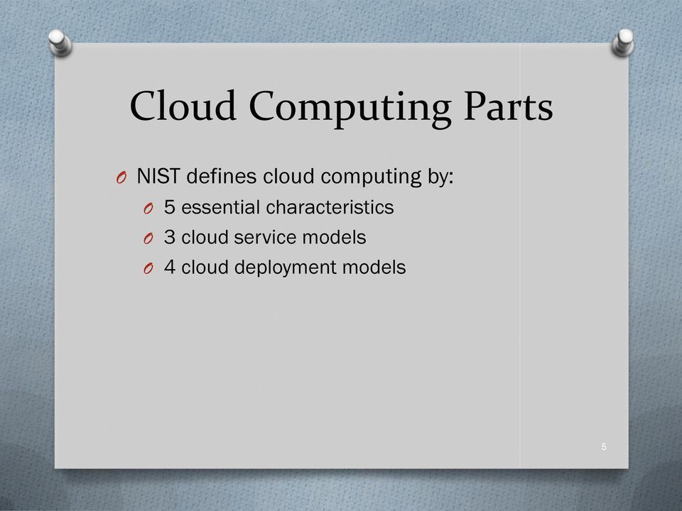 essential characteristics O 3 cloud
