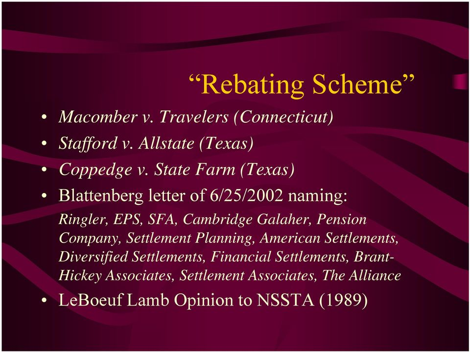 Pension Company, Settlement Planning, American Settlements, Diversified Settlements, Financial
