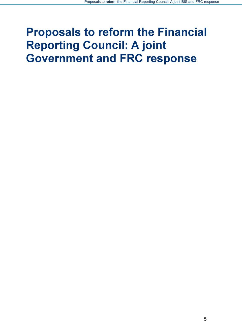 Reporting Council: A
