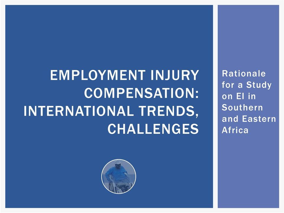 TRENDS, CHALLENGES Rationale