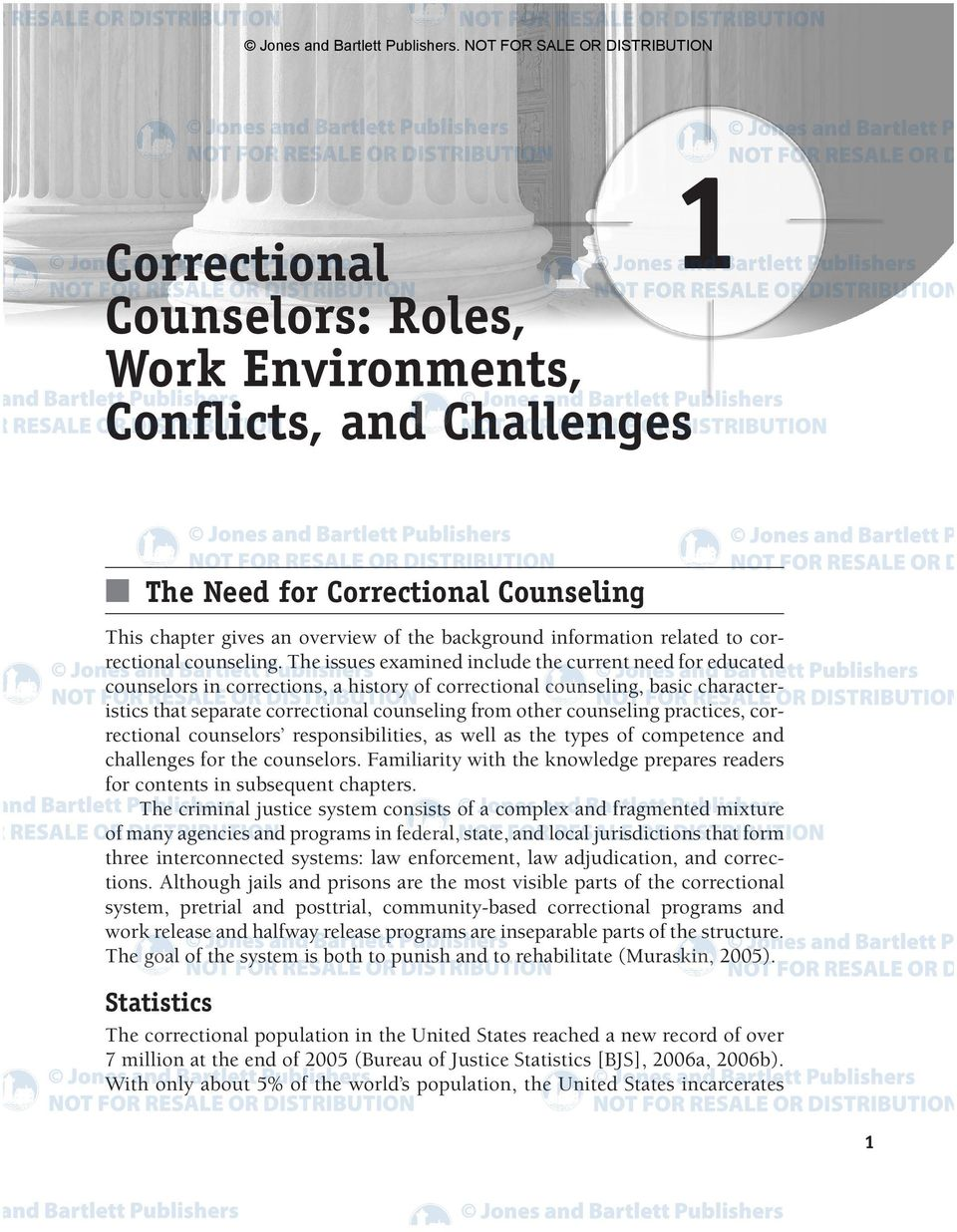 information related to correctional counseling.