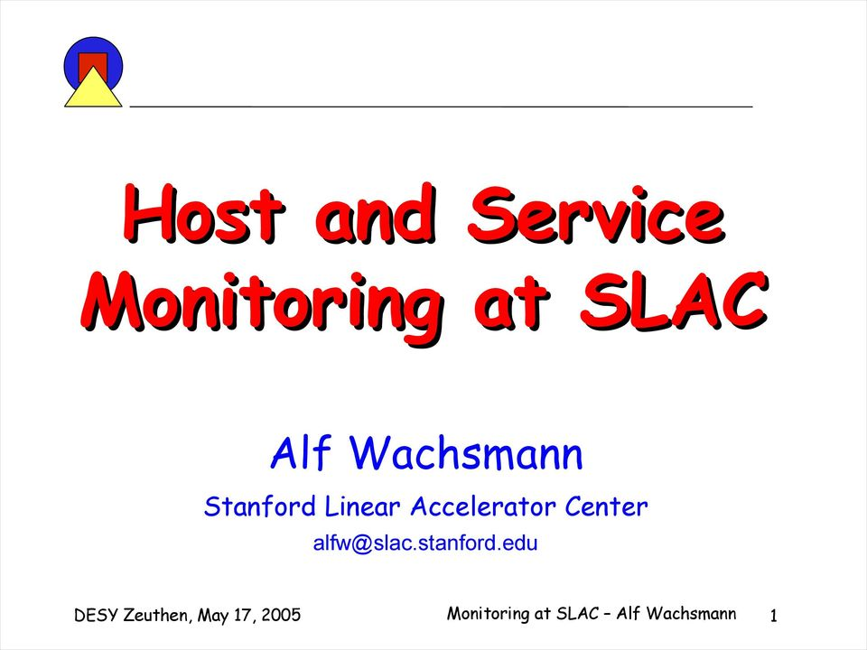 Center alfw@slac.stanford.