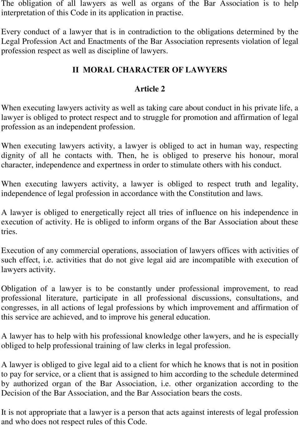 well as discipline of lawyers.
