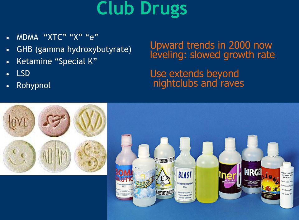 Rohypnol Upward trends in 2000 now leveling: