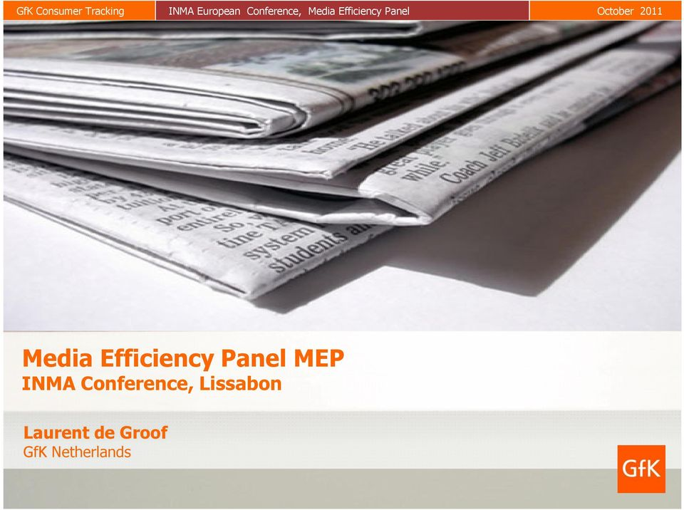 2011 Media Efficiency Panel MEP INMA