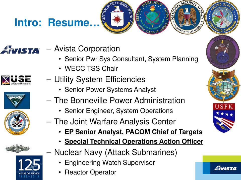 System Operations The Joint Warfare Analysis Center EP Senior Analyst, PACOM Chief of Targets Special