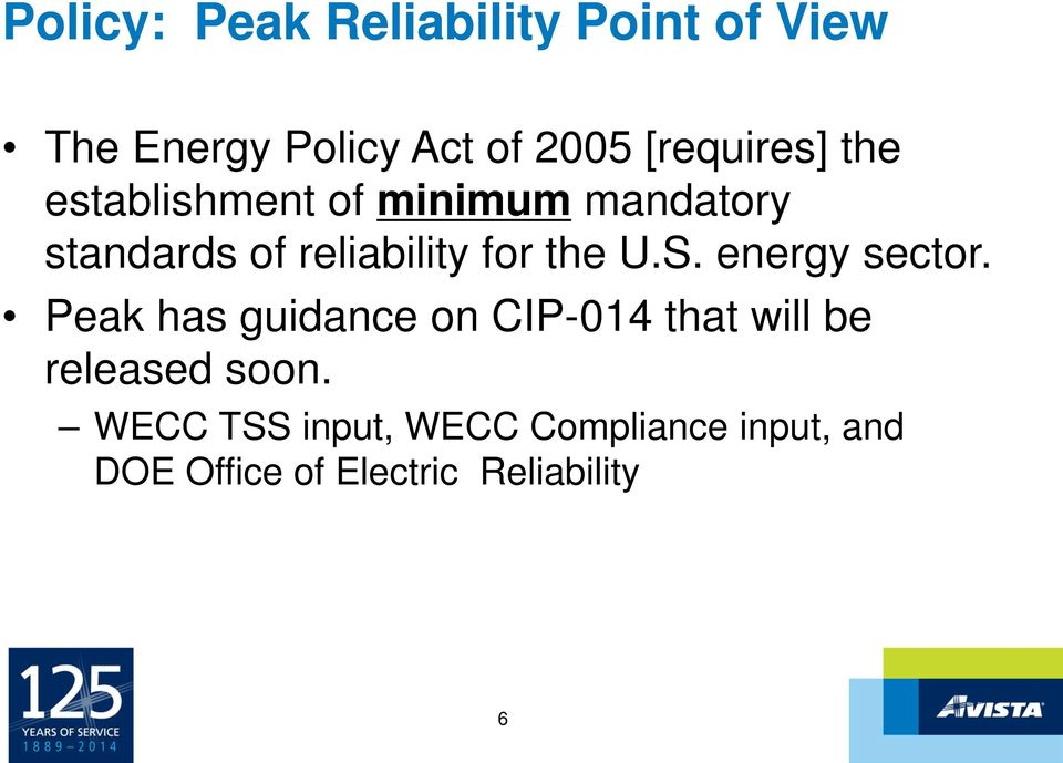 for the U.S. energy sector.