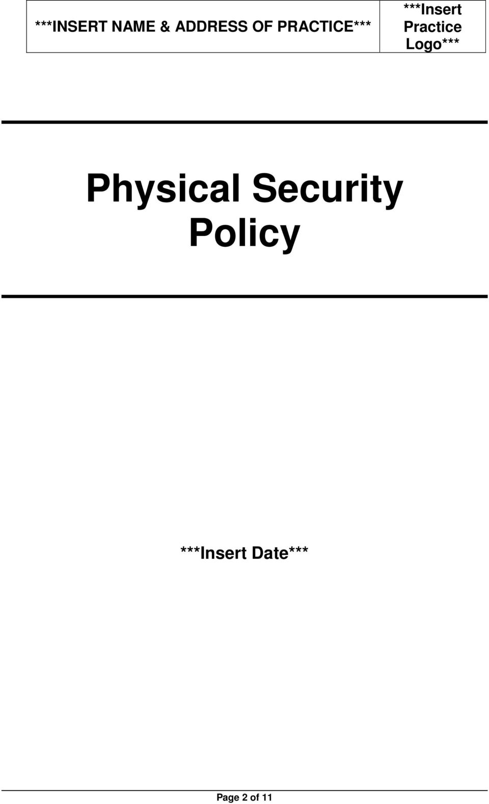Logo*** Physical Security