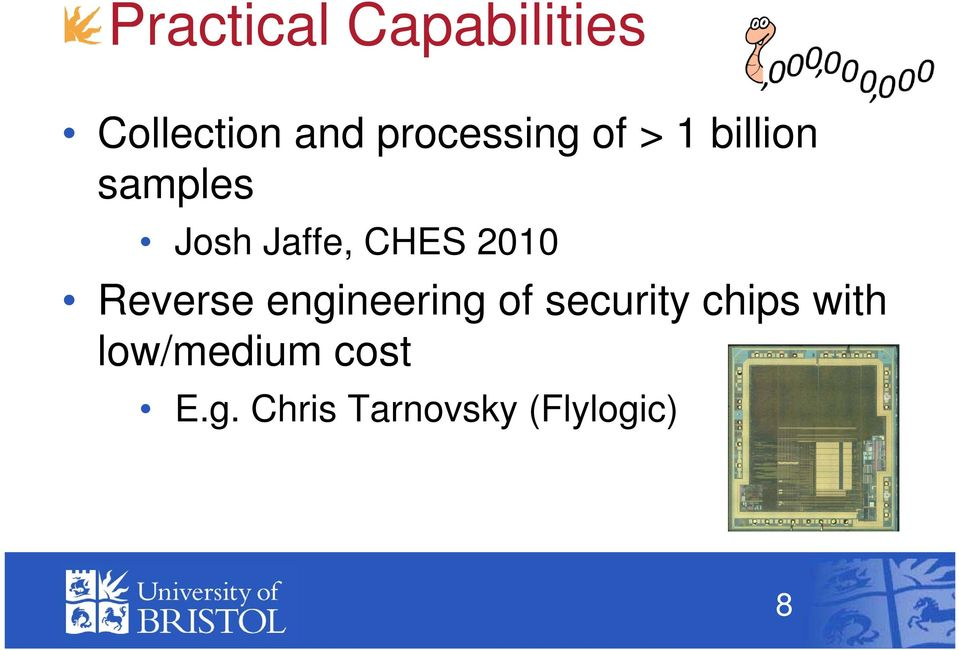 CHES 2010 Reverse engineering of security