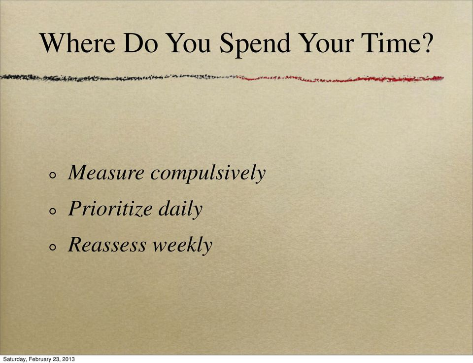 Measure compulsively