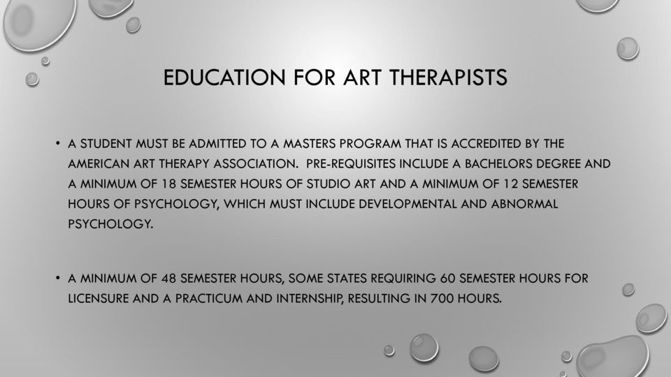 PRE-REQUISITES INCLUDE A BACHELORS DEGREE AND A MINIMUM OF 18 SEMESTER HOURS OF STUDIO ART AND A MINIMUM OF 12 SEMESTER
