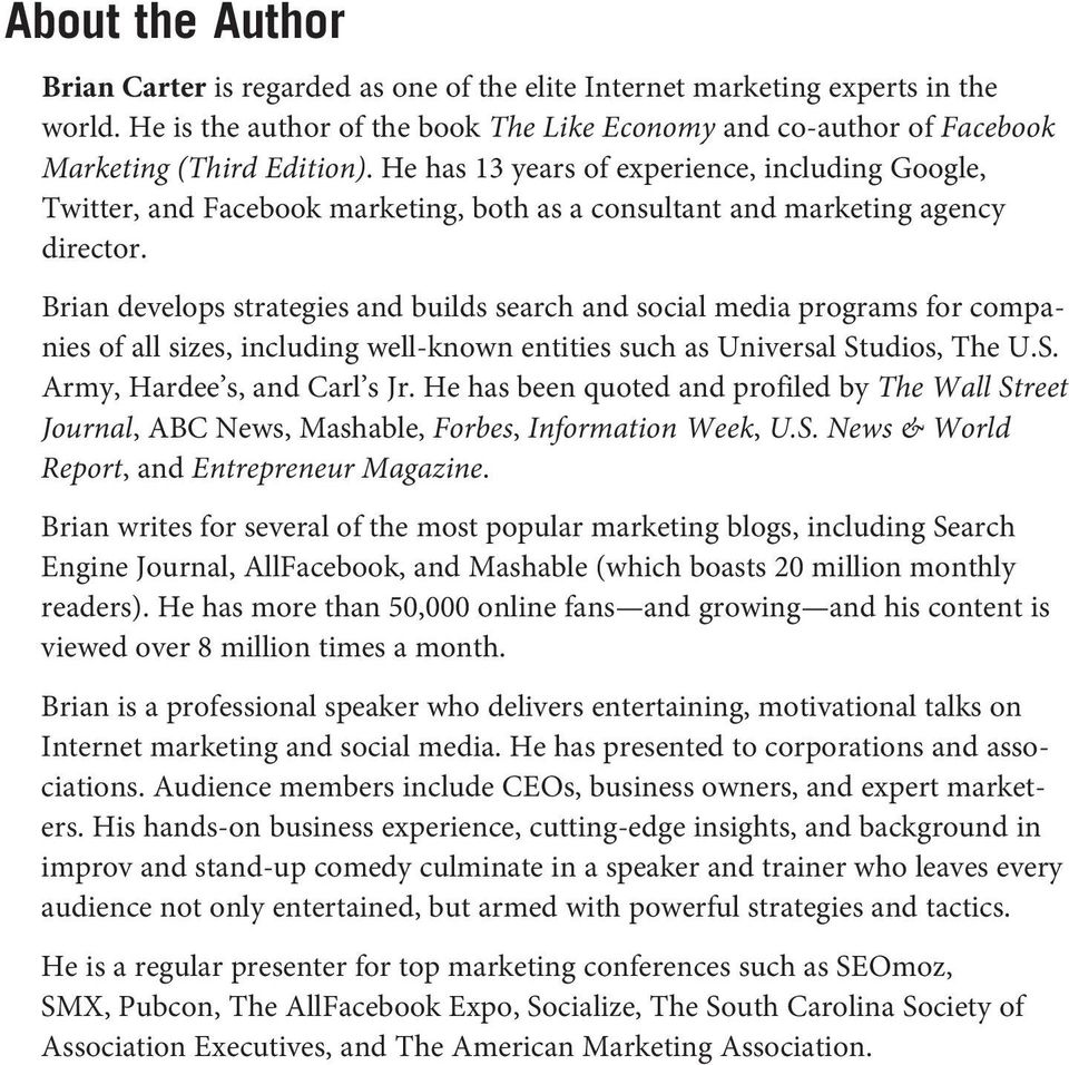 He has 13 years of experience, including Google, Twitter, and Facebook marketing, both as a consultant and marketing agency director.
