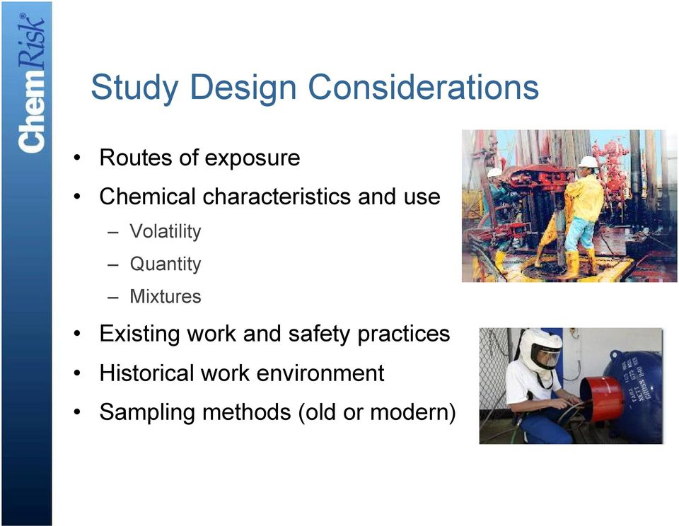 Quantity Mixtures Existing work and safety