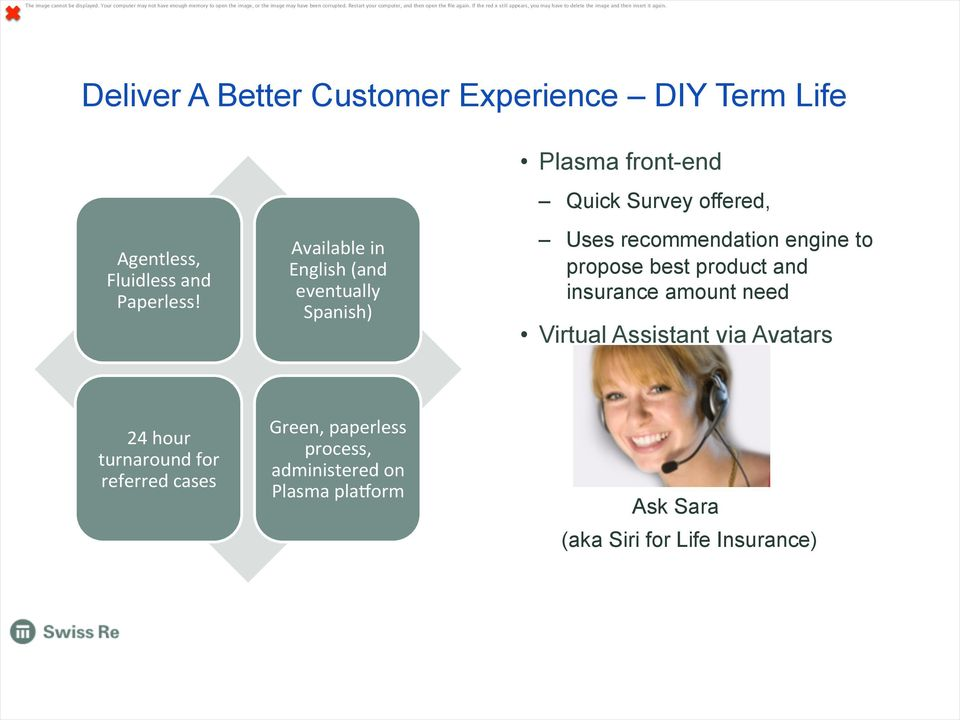 Deliver A Better Customer Experience DIY Term Life Agentless, Fluidless and Paperless!