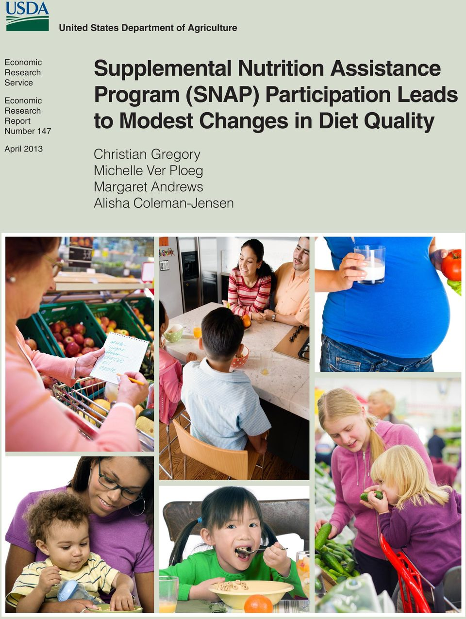 Assistance Program (SNAP) Participation Leads to Modest Changes in Diet