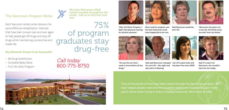 and stable life. Key Elements Proven to be Successful 75% of program graduates stay drug-free After the Detox Program, I didn t feel physical cravings for alcohol anymore.