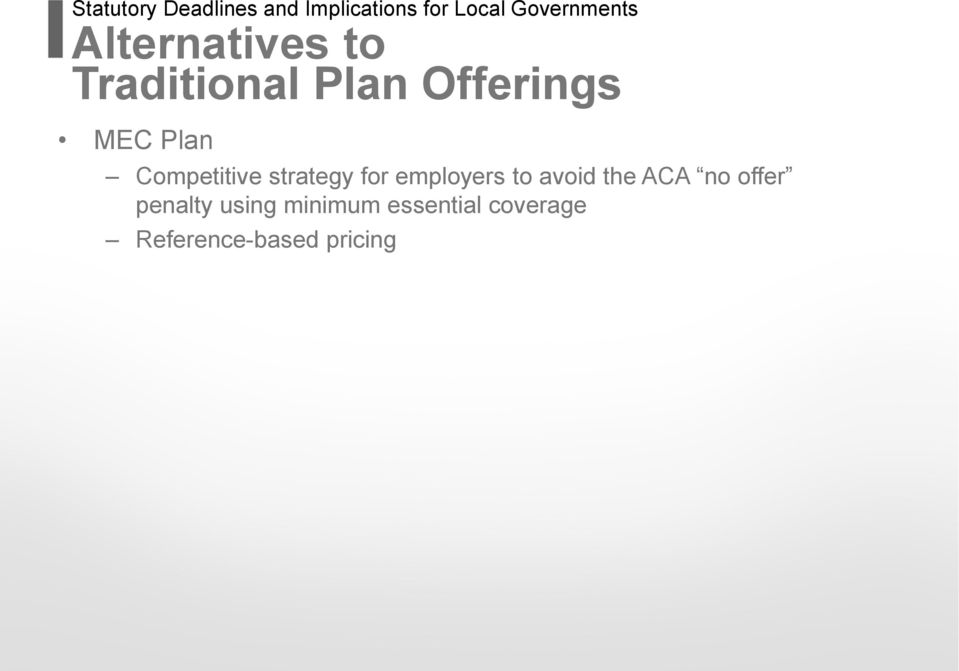Competitive strategy for employers to avoid the ACA no