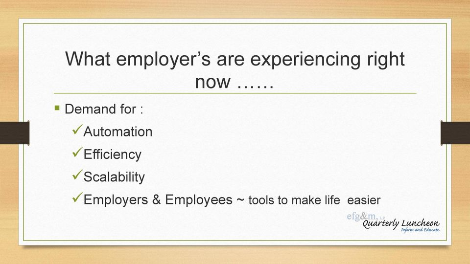 Efficiency Scalability Employers &