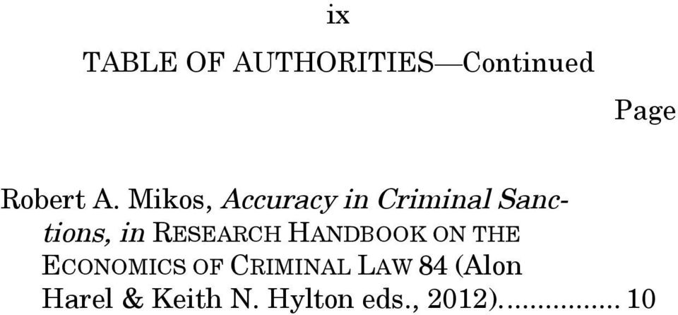 RESEARCH HANDBOOK ON THE ECONOMICS OF CRIMINAL