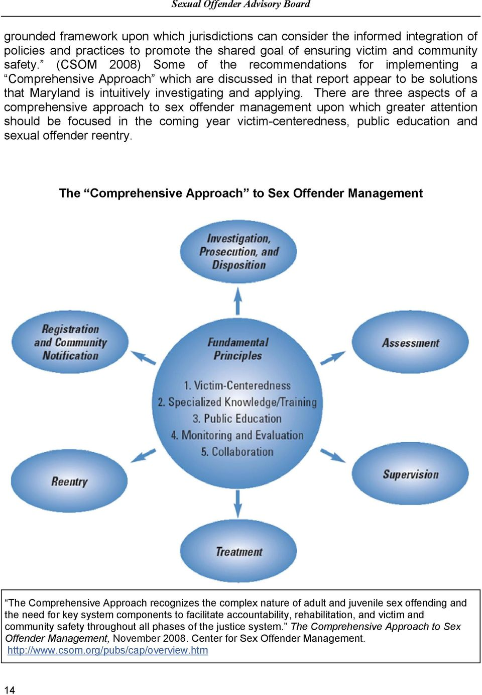 (CSOM 2008) Some of the recommendations for implementing a Comprehensive Approach which are discussed in that report appear to be solutions that Maryland is intuitively investigating and applying.