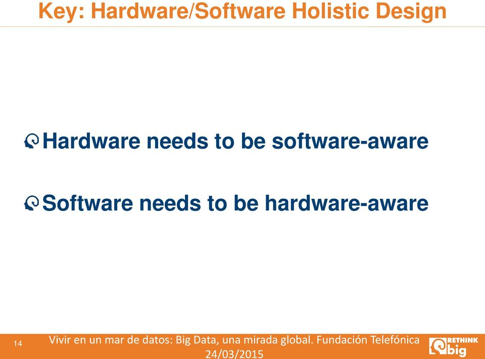 hardware-aware 14 Vivir en un mar de datos: Big