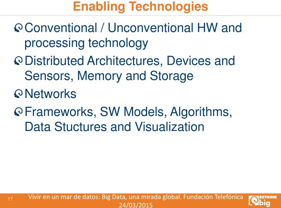 Storage Networks Frameworks, SW Models, Algorithms, Data Stuctures and