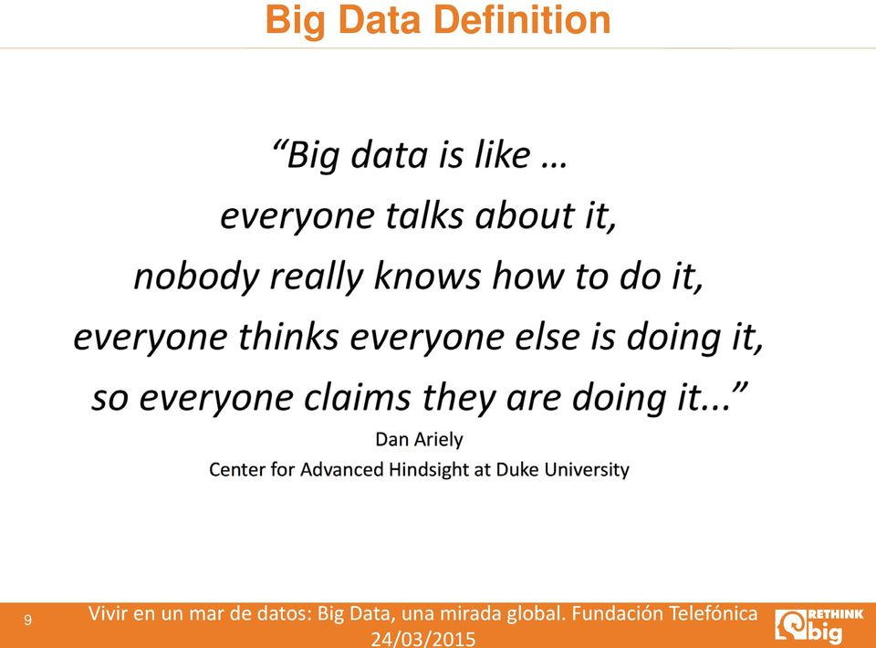 datos: Big Data, una