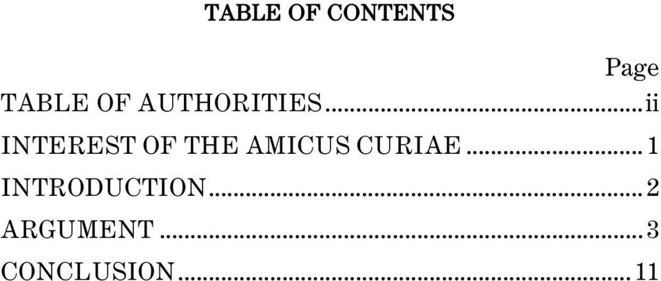 ..ii INTEREST OF THE AMICUS CURIAE.