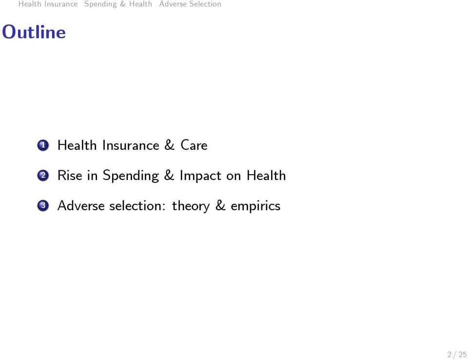 Care 2 Rise in Spending & Impact on Health