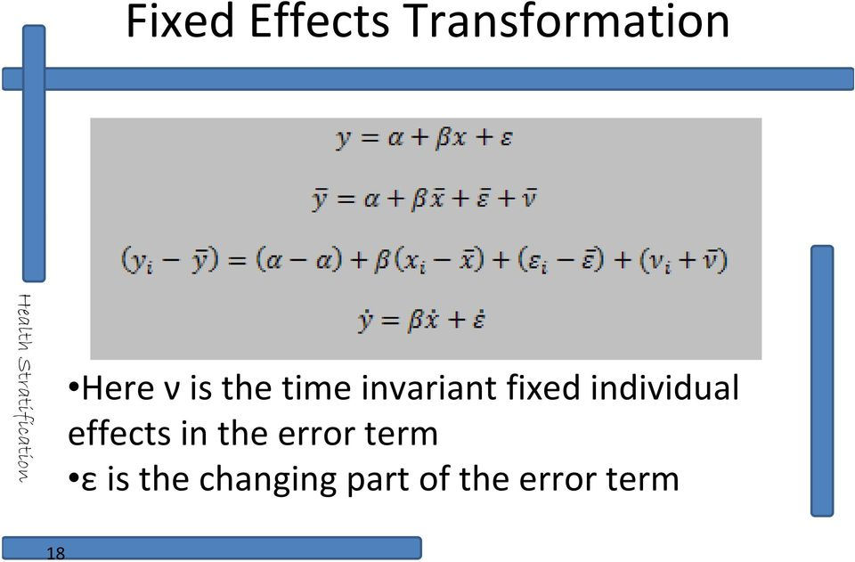 individual effects in the error term