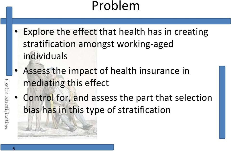 impact of health insurance in mediating this effect Control for,