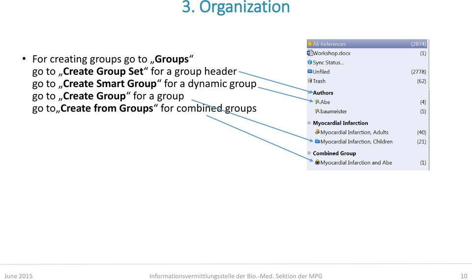 go to Create Group for a group go to Create from Groups for combined