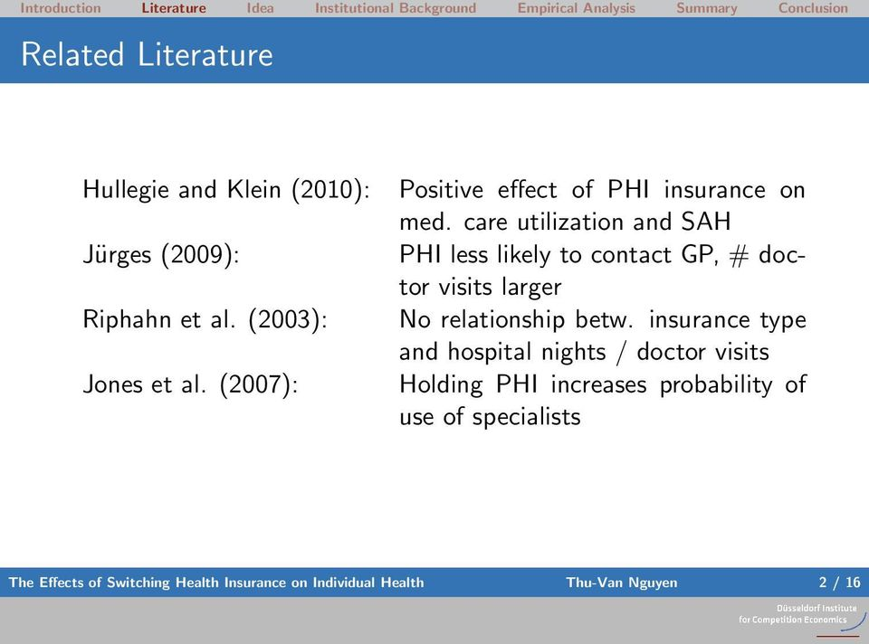 care utilization and SAH PHI less likely to contact GP, # doctor visits larger No relationship betw.