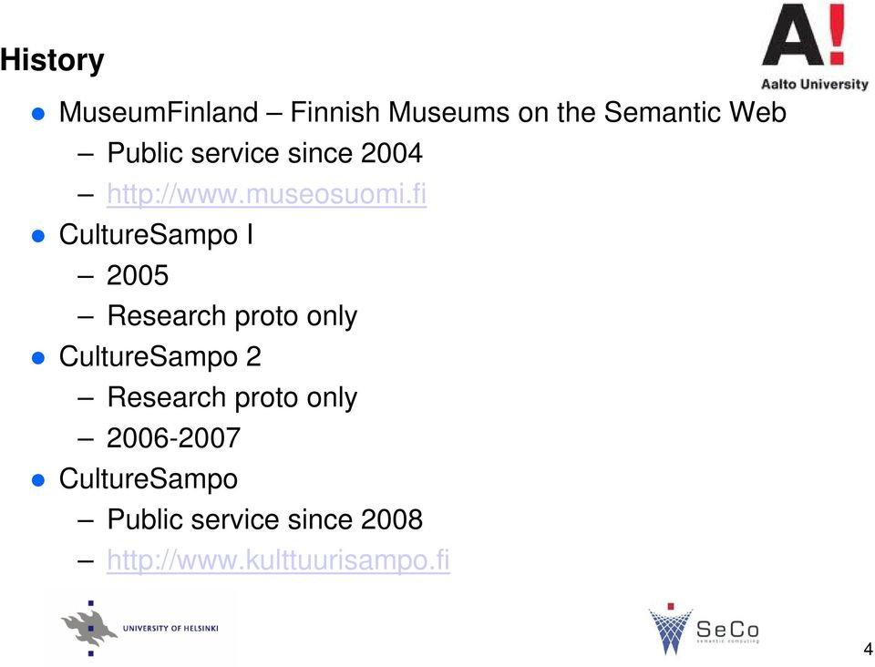 fi CultureSampo I 2005 Research proto only CultureSampo 2