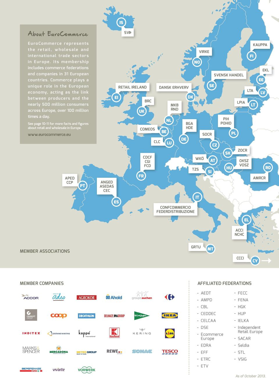 See page 10-11 for more facts and figures about retail and wholesale in Europe. www.eurocommerce.