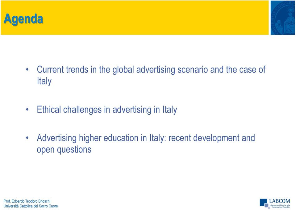 challenges in advertising in Italy Advertising