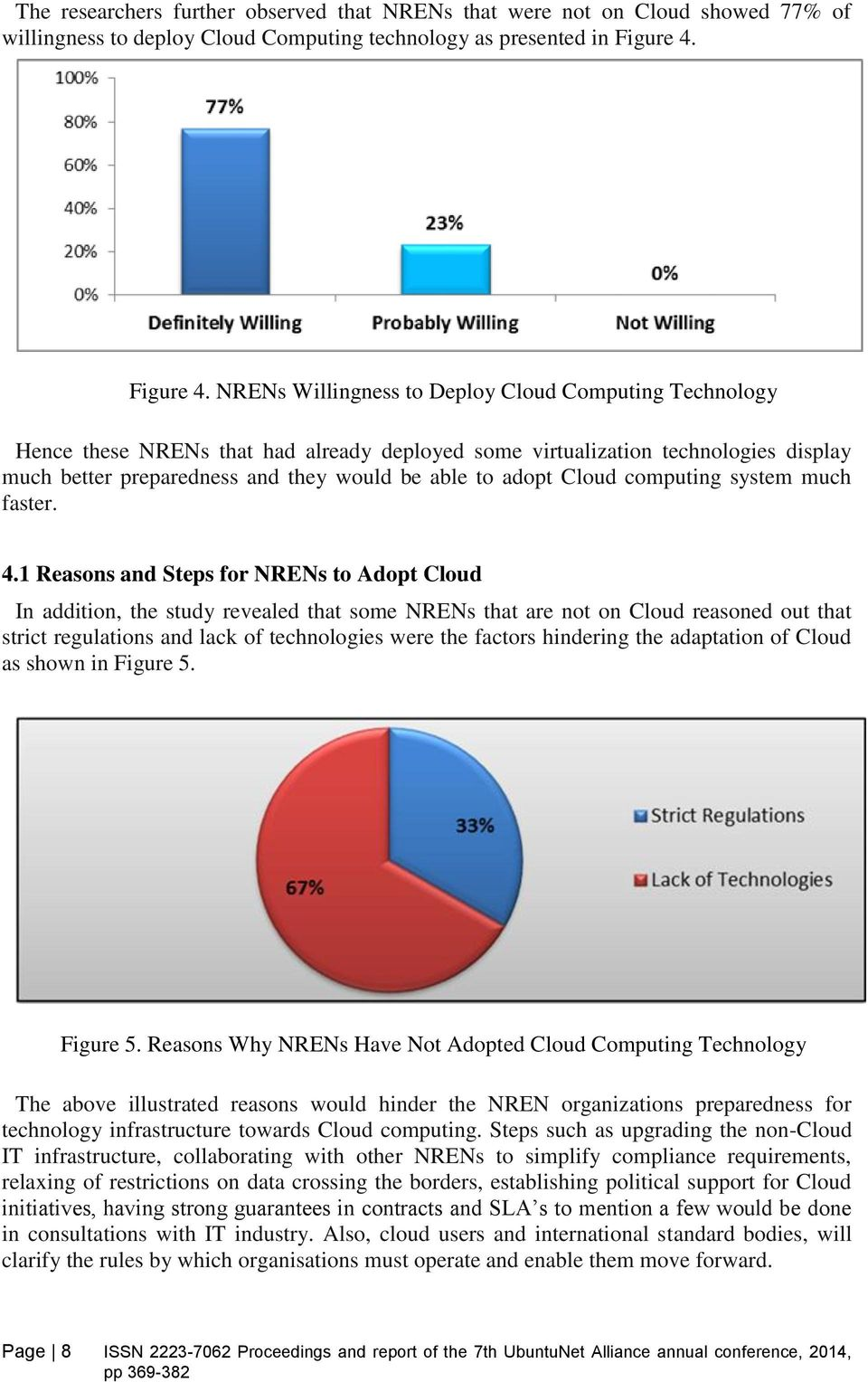 NRENs Willingness to Deploy Cloud Computing Technology Hence these NRENs that had already deployed some virtualization technologies display much better preparedness and they would be able to adopt