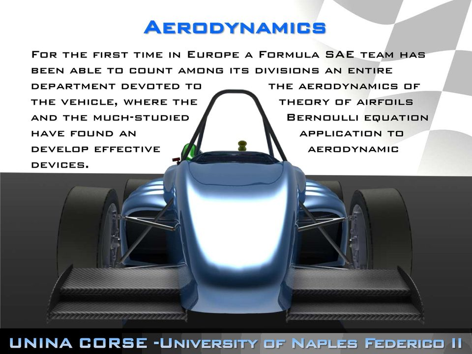 aerodynamics of the vehicle, where the theory of airfoils and the