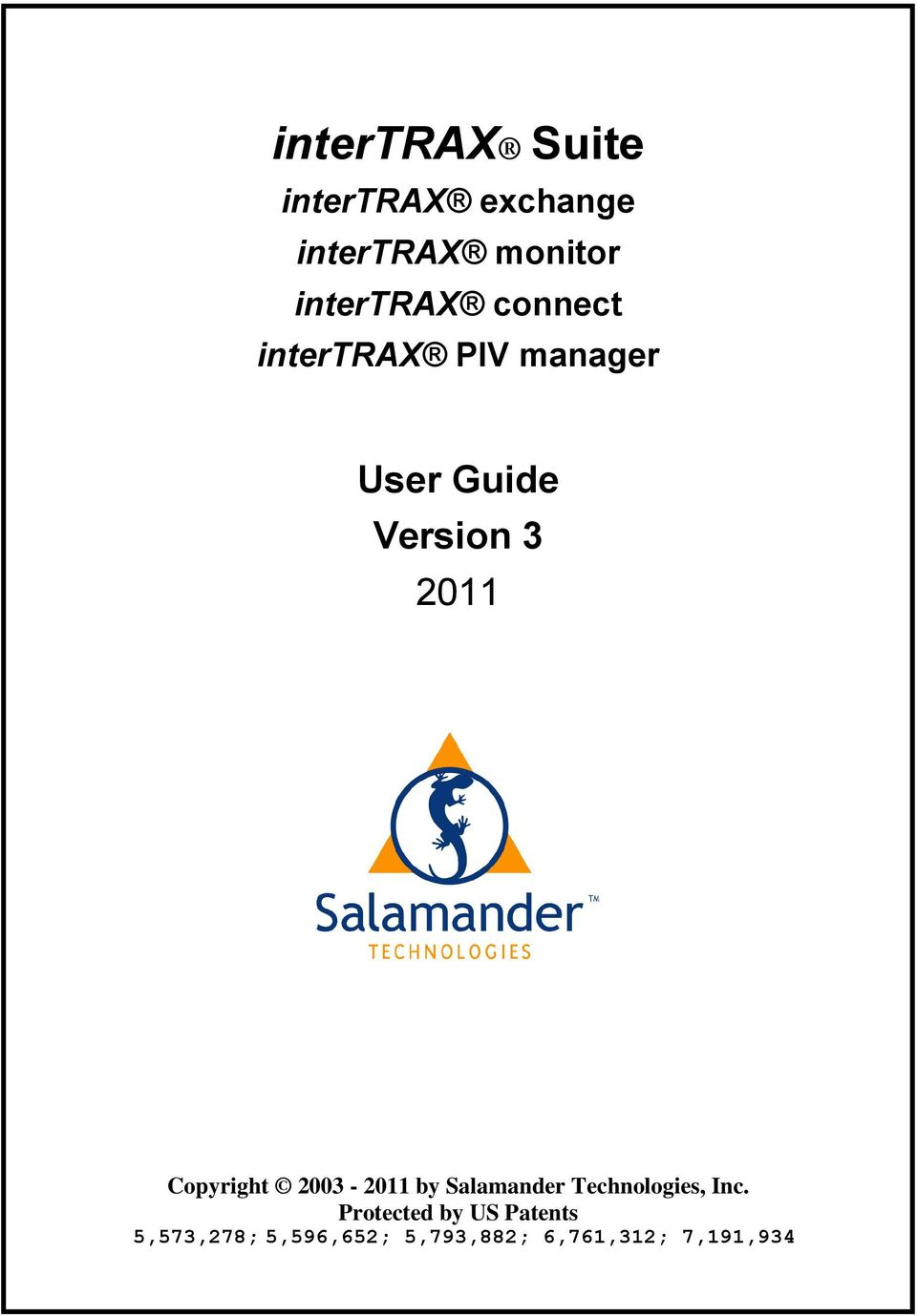 Copyright 2003-2011 by Salamander Technologies, Inc.