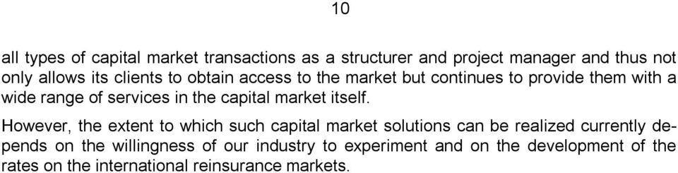 market itself.