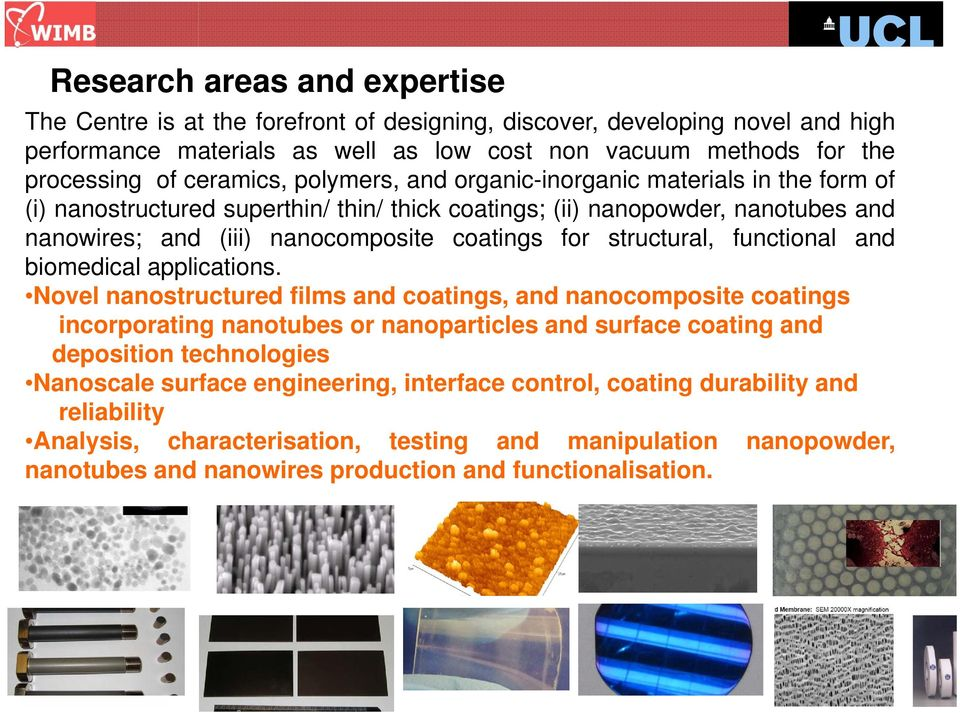 structural, functional and biomedical applications.
