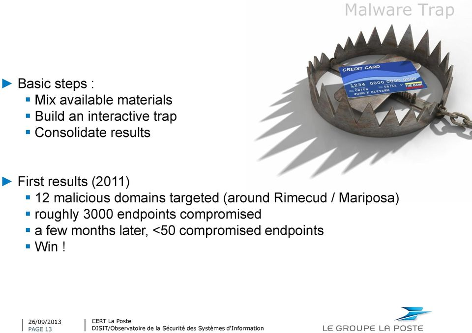 malicious domains targeted (around Rimecud / Mariposa) roughly 3000