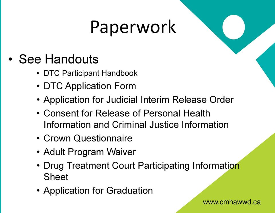Health Information and Criminal Justice Information Crown Questionnaire Adult