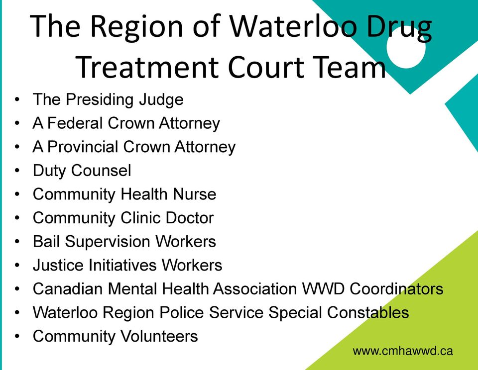 Doctor Bail Supervision Workers Justice Initiatives Workers Canadian Mental Health
