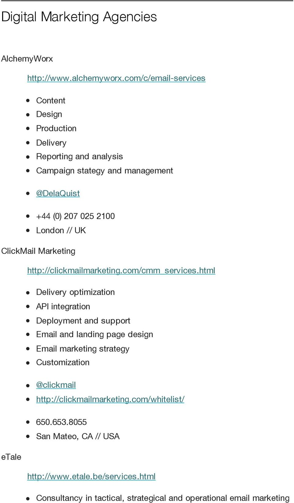 UK ClickMail Marketing http://clickmailmarketing.com/cmm_services.